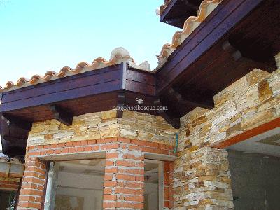 estructura de madera para cerramiento