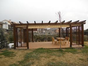 pérgolas de jardin en madera o aluminio