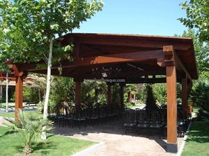 porche para el jardín realizado por Pérgolas El Bosque en Madrid, 2013