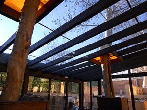 cerramientos de cristla y madera para restaurante en Madrid