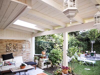 Porches y garajes de madera para en madrid y toledo for Porche jardin madera