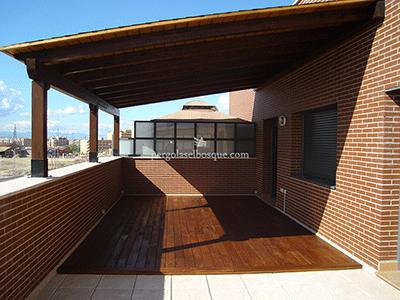 porche de cerramiento realizado para azotea de piso
