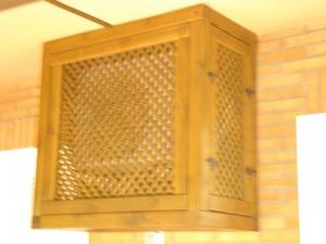 celosia detalle de caja de madera