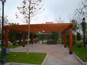 pergola de madera para parque, Madrid 2014