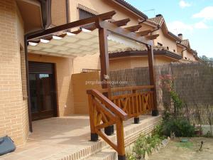 valla de madera en terraza