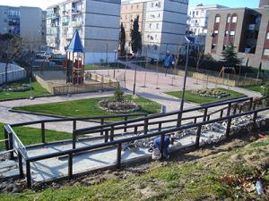 vallado de madera para zona recreativa en Madrid