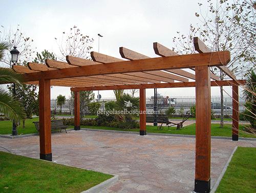 pérgolas de madera para exteriores