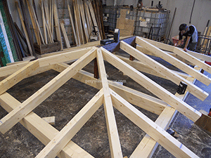 estructura para pergola ya lista para techado exterior