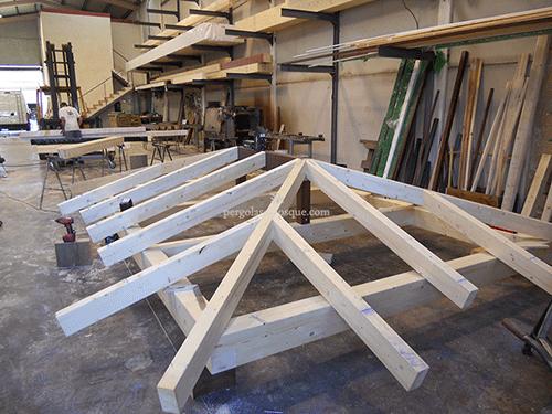 vigas de madera para pergolas y porches